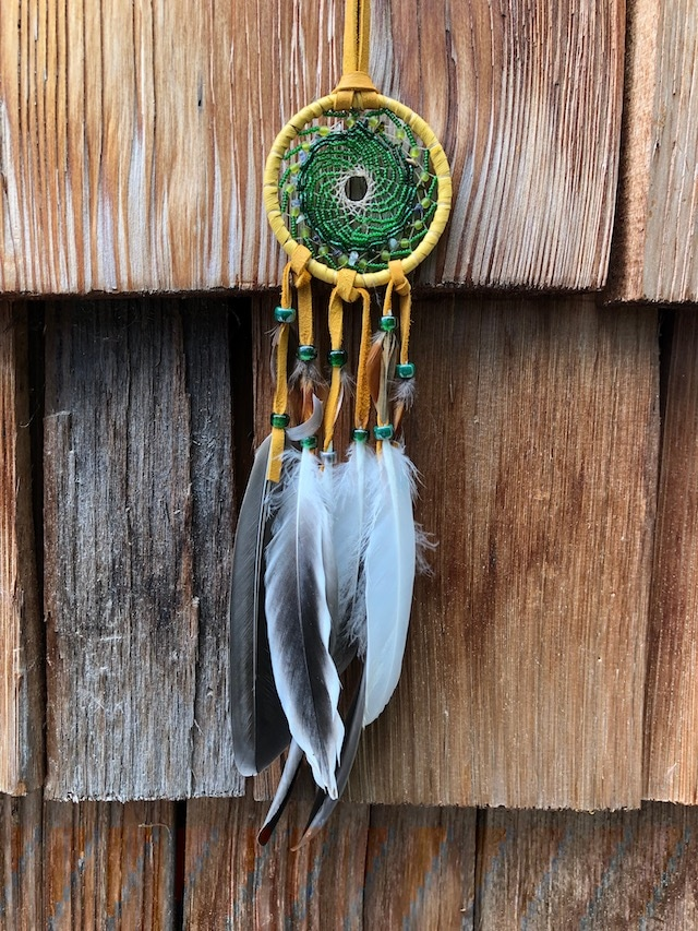 Brass ring dreamcatcher